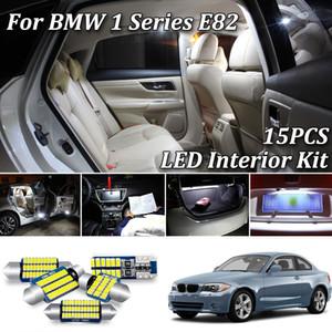 15pcs blanc Canbus Free Error conduit éclairage intérieur voiture Package Kit pour 1 Série E82 Coupe LED Intérieur Carte Dôme Lumière