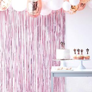 1m * 3m 12 Farben Matt Regen Silk Curtain Weihnachtsdeko Atmosphäre Dekor Vorhang-Geburtstags-Party Rainy Silk Curtain