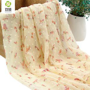 SHUAN SHUO Polyester Printing Chiffon Fabric For Summer Women Dress Fabric Fashion Shirts, Halter tops, Skirts, Scarves