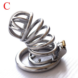 New Penis Rings Three-dimensional Chastity Belt Bondage Chastity Device Cockrings Birdcage JJ Lock Adult Alternative Toys 47E
