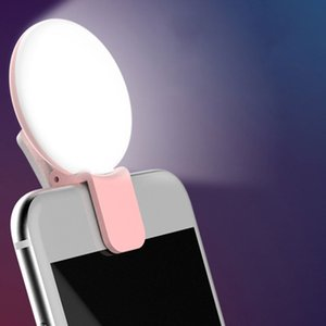 Téléphone portable pas cher objectif Portable selfie LED Flash sur téléphone portable selfie lumière pour la nuit Maquillage Améliorer Fill Light Lamp Retardateur