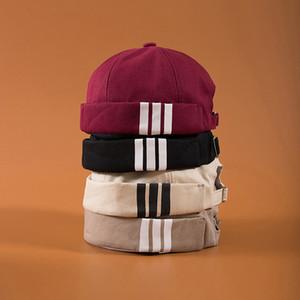 Skullies Cap Estate cotone senza tesa Uomo Vintage urbano unico Via portatile Docker cappelli multiuso Miki Beanie Hat