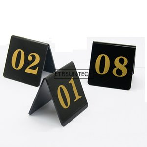 Acrylic Table Number Cards Wedding Restaurant Cafe Bar Table Numbers Stick Set For Wedding Birthday Party Supplies number 1-50 1-100 LX1213