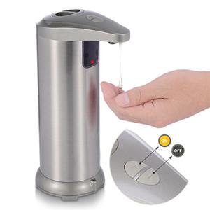 Бесконтактный автоматический, инфракрасный датчик движения блюдо из нержавеющей стали жидкое свободное автоматическое мыло для рук диспенсер для ванной комнаты / кухни водонепроницаемый база
