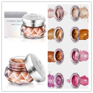 PUDAIER Jelly Gel Highlights Powder Eyeshadow makeup Glitter Pearly Beauty Glazed Shimmer 8 colors Face Body Eye shadow Cream Cosmetics 1PCS