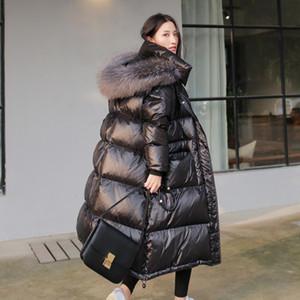 AYUNSUE 90% de canard blanc Veste en duvet épais femmes long manteau d'hiver à capuchon femmes coréenne Femme Doudoune Femme Doudoune KJ727 T191211
