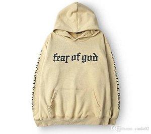 Мужчины Марка Страх Бог Hoodie Beige Цель тура Толстовка Gorilla Wear Hiphop Толстовка скейтборд Wes высокого качества Толстовки