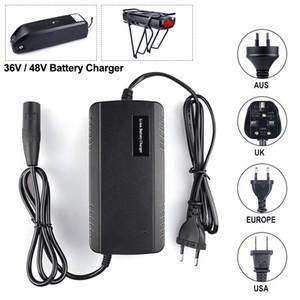 UE AU US UK Li-ion Battery Charger Microfone plug Hailong 36V 48V 17.5Ah E-bike Carregador de entrada 110V-240V Output 54.6V 2.0A