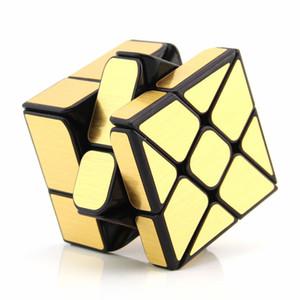 Cube Magic Mirror Cub Gold Silber cubo Stress magico Coated Puzzle Geschwindigkeit Twist Lernen Kinder Erziehung Spielzeug Cast
