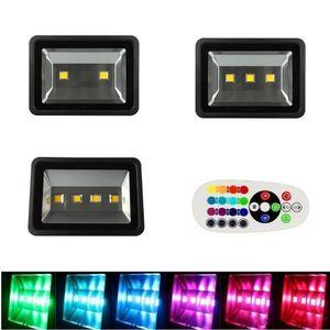 200W 300W 400W RGB LED Flood Lumières Avec changement de couleur de la télécommande Synchronize extérieur conduit projecteurs étanches pour l'éclairage du paysage