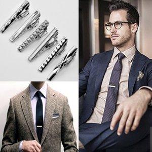 Silver Tie Clips 4 * 0.5CM 넥타이 클립 넥타이 클립 비즈니스 남성용 클립 클립 넥타이 클립 크리스마스 선물 송료 무료