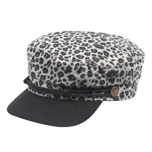 Korea Cap Ins Sun Visor Female Hat Leopard Fashion Visors Beret Female Autumn Winter Retro Flat Visors Hats Casquette
