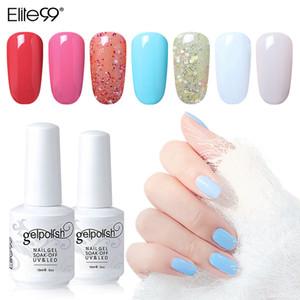 Elite99 Longa Duração Nail Polish 15ml Pure cor das unhas Gel Lacquer Verniz Mergulhe Offf UV LED Manicure Art polonês