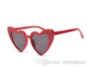 Heart-Shaped Sunglasses Peach Heart Sunglasses Soft Sister Harajuku Cute Glasses Beige Autumn And Winter New High Quality