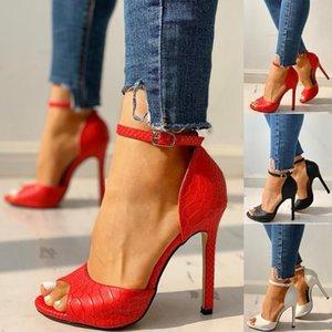 Hot Vente- Femmes Pompes Fashion 2020 Sexy Summer exquis toes Ladies Chaussures Femmes Augmentation Stiletto super haute Sandales à talons