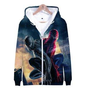 Marvel фильм Spider-Man: Far From Home Костюм 3D Printed Hooded Zipper Толстовка Супер герой Человек-паук Spider-Гвен Толстовка Мужчины