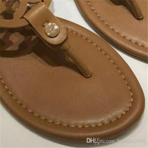 Diseñador diapositivas Zapatos de las muchachas de la hebilla de correa Señora Diapositivas de las mujeres del verano T0ry Zapatillas Mujeres tirón T-correa de sandalias de los fracasos de marca para mujer de la correa de diapositivas