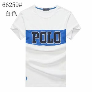 2019 ABD polo marka tasarımcısı erkek büyük yuvarlak boyun T-shirt Trendy vahşi eğilim ince mizaç desen mektupları gevşek erkek T-Shirt pamuk