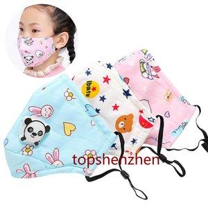 Vente chaude Enfants bouche Masque Valve Panda Cartoon Épaissir masque facial chaud lavable poussière masque Fits 3-13 Ans Enfants Avec filtre