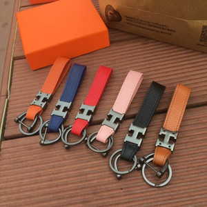 H letter metal keychain personality fashion men and women ceychen car pendant Parts with box