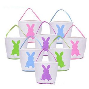 Easter Bunny Basket Easter Bunny Bags Rabbit Barrel Bags Kids Candy Baskets Party Festival Candies Easter Eggs Tote Bag Bunny Handbags 50pcs