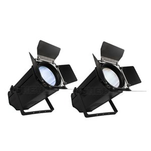 LED 200W COB Par Light Electric Zoom Cool and Warm White Color With Barn Doors Blinder COB Light Church Theater Disco DJ Light