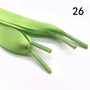 plat Mode soie Lacets ruban coloré en satin de soie Lacets espadrille Cordes de chaussures 2cm de large 120cm long Lacets