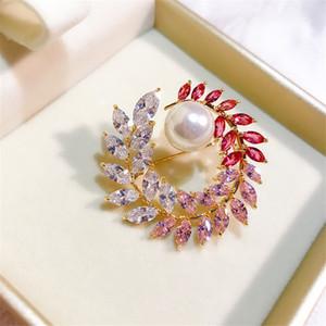 Grinalda Broches Mulheres Broaches elegantes do casamento para noiva Banquete Costume Broche Pin Luxury Jewelry Christmas Gift Acessórios