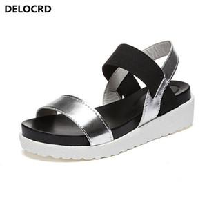 2018 Summer Sandals For Women New Shoes Peep-toe Sandalias Flat Shoes Roman Sandals Shoes Woman Mujer Ladies Flip Flops Footwear T200529