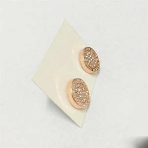 Designer earrings women Earings round crystal studs Luxury Rose Gold Silver earring womens earing ear ring Lady Girl stud Wedding Jewelry