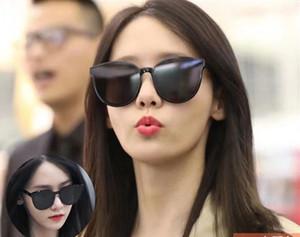 Modo caldo della Corea Black Peter da sole delle donne della Corea Gentle Occhiali da Sole mostro Stella Lady Fashion Vintage pacchetto di marca originale Oc Designer