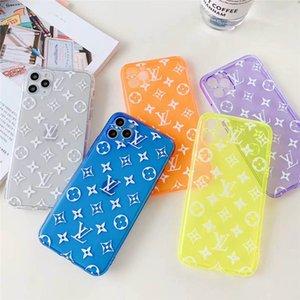 Дизайнерская Флуоресцентные цвета телефон случае для Iphone 11 11Pro не более 7 8plus чехол для iphone X XR XS Max 6S Plus Обложка Капа Fundas