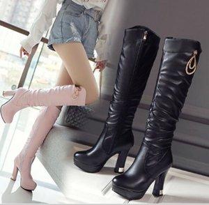 Новое прибытие горячие продажа спец супер мода приток Мартин плюс бархат хлопок женский нескользящей Дикий Алмаз платформы каблуки сапоги EU32-43