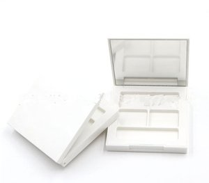 2019 Eye Shadow Empty white Palette DIY Palette Eyeshadow Case Cosmetic Containers Make up with Mirrors