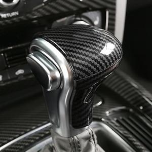 Para Audi A4 B9 A5 A7 A3 S6 Q5 Q7 RS4 Console Gearshift Handle Chefe armação de cobertura de fibra de carbono etiqueta do carro Acessórios Interior