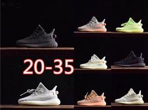 2020 Hot Basf réel Kanye West V2 Designer statique Cream Kids Sports Chaussures Hommes Chaussures de sport en cours avec la taille Chaussures dresseur boîte originale 20-35