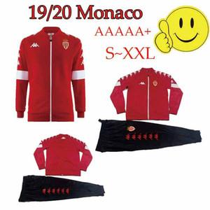 Новый 19/20 Монако Футбол куртка костюм 2020 Монако Фалькао TIELEMANS Футбол GOLOVIN Йоветич Футбол длинный молния спортивный костюм Jacke