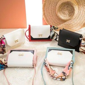 Messenger Crossbody Women Bag Ladies Shoulder Tote PU Bags Scarves Bow Leather Satchel Handbag Mwvaa