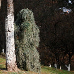 Camouflage roupas de caça 3D Withered grama Ghillie Suit Floresta Tactical 3D Suits Sniper Roupas Traje Outdoor Hunt for Adulto