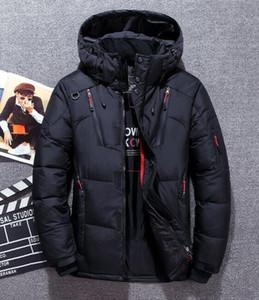 Роскошные моды Fourrure вниз Parka Homme Jassen Верхняя одежда Куртки Big Fur Hooded Fourrure манто Канада пуховик пальто Hiver Doudoune