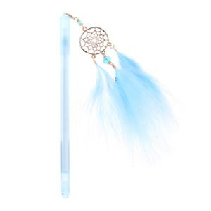 Dreamcatcher Feather Anhänger Neutral Pens Kawaii Kristall Gel Pen für Kinder Geschenk Schule Bürobedarf Schreibwaren