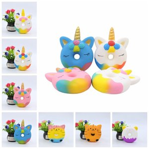 Unicornio Panda Donut Squishy Toy Slow Rising Kids Squeeze Toys Stress Reliever Toys Funny Children Gifts HHA509