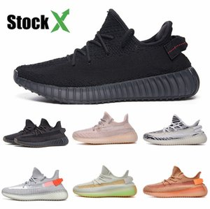 2020 Basketball Shoes Quantum Triple Black Kanye West Designer Sneakers Reflective Outdoor Men Women Sport Trainers With Box Us 5.5-13 #DSF341