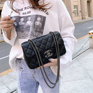 2019 الموضة وتنوعا صغيرة سلسلة XIANGFENG حقيبة Lingge حقيبة كتف واحد رسول حقيبة أكياس جديدة صغيرة مربعة