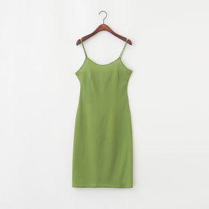 falda condole interior de la toma render mostrar deslizamiento fina floja ajustable chaleco largo -004