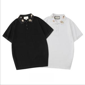 Летний дизайнер поло рубашки для мужчин модный бренд мужские Поло тройники с буквами змея вышивка роскошные с коротким рукавом Поло топы S-2XL
