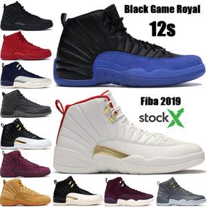 En kaliteli Jumpman 12 12s Fiba Siyah Oyun Kraliyet erkek basketbol ayakkabıları Uluslararası Uçuş ovo Beyaz Yün açık spor ayakkabıları ABD mens