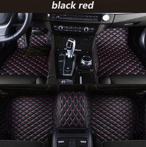 Adecuado para Toyota Camry 2004-2018 lujo estera del coche rodeado de cuero resistente al agua alfombra de la estera costuras interiores