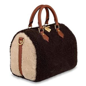 marca 2019 nuove donne tote della borsa del sacchetto di spalla cuscino borsa di lusso di alta qualità 30 veloci della borsa borse di marca M55422 SPEEDY 25 Teddy