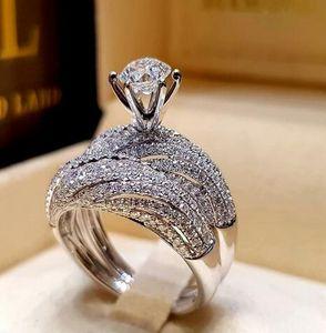 Anello in argento naturale abbagliante con gioielli naturali Anello da sposa per matrimonio